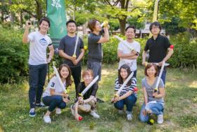 株式会社nanairoの社内イベントでチャンバラ合戦が取り入れられました!