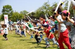 【8/11】香川オリーブガイナーズと一緒にチャンバラ合戦!